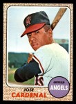 1968 Topps #102  Jose Cardenal  Front Thumbnail
