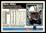 1995 Topps #443  Sam Mills  Back Thumbnail