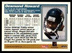 1995 Topps #455  Desmond Howard  Back Thumbnail