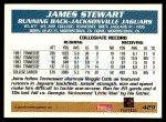 1995 Topps #429  James O. Stewart  Back Thumbnail