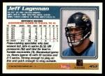 1995 Topps #453  Jeff Lageman  Back Thumbnail