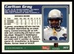 1995 Topps #303  Carlton Gray  Back Thumbnail