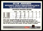 1995 Topps #427  Ellis Johnson  Back Thumbnail