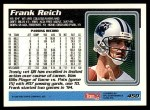1995 Topps #450  Frank Reich  Back Thumbnail