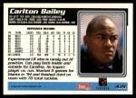 1995 Topps #439  Carlton Bailey  Back Thumbnail