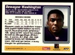 1995 Topps #377  Dewayne Washington  Back Thumbnail