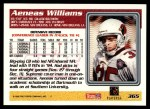 1995 Topps #365  Aeneas Williams  Back Thumbnail