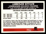 1995 Topps #433  Lorenzo Styles  Back Thumbnail