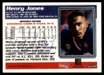 1995 Topps #349  Henry Jones  Back Thumbnail