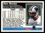 1995 Topps #448  Don Beebe  Back Thumbnail