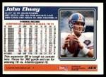 1995 Topps #400  John Elway  Back Thumbnail