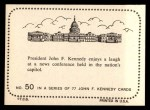 1964 Topps JFK #50   JFK Enjoys Laugh Back Thumbnail