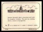 1964 Topps JFK #3   Sen. Kennedy With Daughter Caroline Back Thumbnail