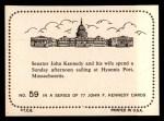 1964 Topps JFK #59   Sen. & Jackie Sailing At Hyannis Port Back Thumbnail