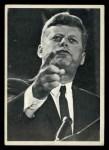 1964 Topps JFK #28   JFK Add. On His Civil Rights St& Front Thumbnail