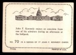 1964 Topps JFK #70   Enjoys An Anecdote At The Ballpark Back Thumbnail