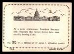 1964 Topps JFK #35   News Conference On Soviet Forces Back Thumbnail