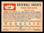 1960 Fleer #37  Lefty O'Doul  Back Thumbnail