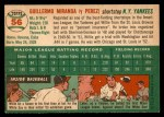 1954 Topps #56  Willie Miranda  Back Thumbnail