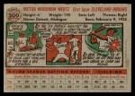 1956 Topps #300  Vic Wertz  Back Thumbnail