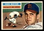 1956 Topps #14  Ken Boyer  Front Thumbnail