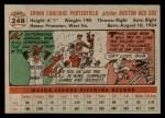 1956 Topps #248  Bob Porterfield  Back Thumbnail