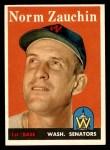 1958 Topps #422  Norm Zauchin  Front Thumbnail