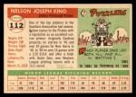 1955 Topps #112  Nelson King  Back Thumbnail