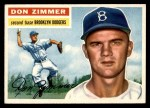 1956 Topps #99  Don Zimmer  Front Thumbnail