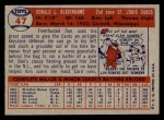 1957 Topps #47  Don Blasingame  Back Thumbnail