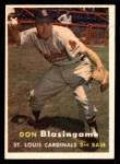 1957 Topps #47  Don Blasingame  Front Thumbnail