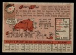 1958 Topps #247  Casey Wise  Back Thumbnail
