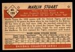 1953 Bowman #120  Marlin Stuart  Back Thumbnail