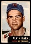 1953 Topps #109  Al Dark  Front Thumbnail