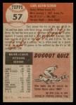 1953 Topps #57  Carl Scheib  Back Thumbnail