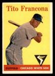 1958 Topps #316  Tito Francona  Front Thumbnail