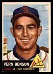 1953 Topps #205  Vern Benson  Front Thumbnail