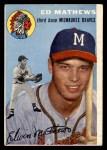 1954 Topps #30  Eddie Mathews  Front Thumbnail