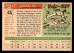 1955 Topps #43  Harvey Haddix  Back Thumbnail