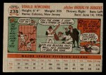 1956 Topps #235  Don Newcombe  Back Thumbnail