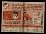 1958 Topps #109  Herb Plews  Back Thumbnail