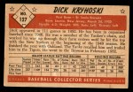 1953 Bowman #127  Dick Kryhoski  Back Thumbnail