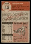 1953 Topps #40  John Lipon  Back Thumbnail