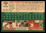 1954 Topps #15  Al Rosen  Back Thumbnail
