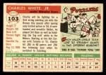 1955 Topps #103  Charlie White  Back Thumbnail