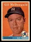 1958 Topps #20 ^WN^ Gil McDougald  Front Thumbnail