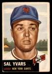 1953 Topps #11  Sal Yvars  Front Thumbnail