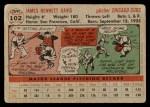 1956 Topps #102 GRY Jim Davis  Back Thumbnail