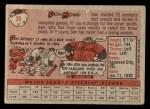 1958 Topps #35 WT Don Mossi  Back Thumbnail
