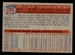 1957 Topps #295  Joe Collins  Back Thumbnail